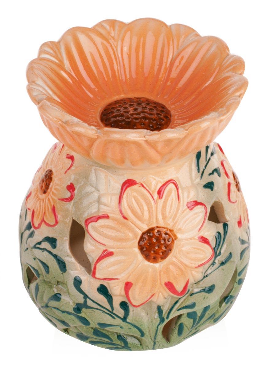 Аромалампа Подсолнух , цвет: персиковый, 11 см аромалампа шар