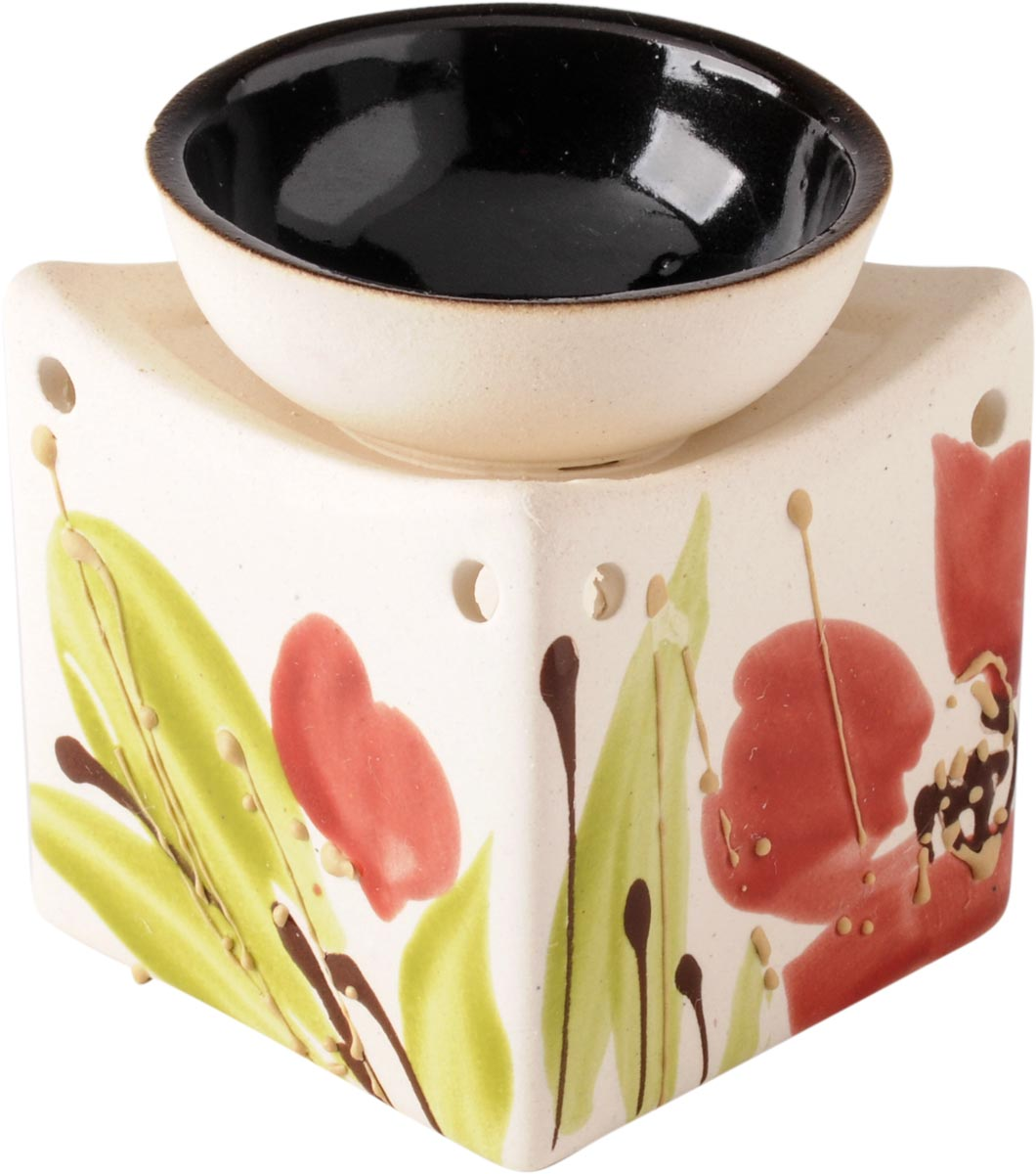 Аромалампа Кубик, цвет: бежевый, 8 см аромалампа шар