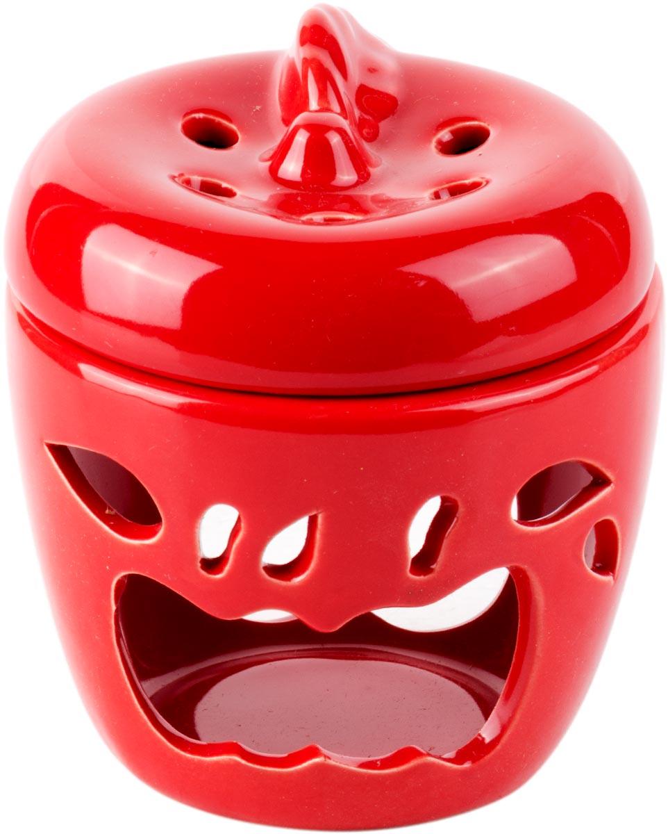 Аромалампа Яблоко, цвет: красный, 9 см кувшинчик с сердечком аромалампа керамика 8х10 см без упаковки