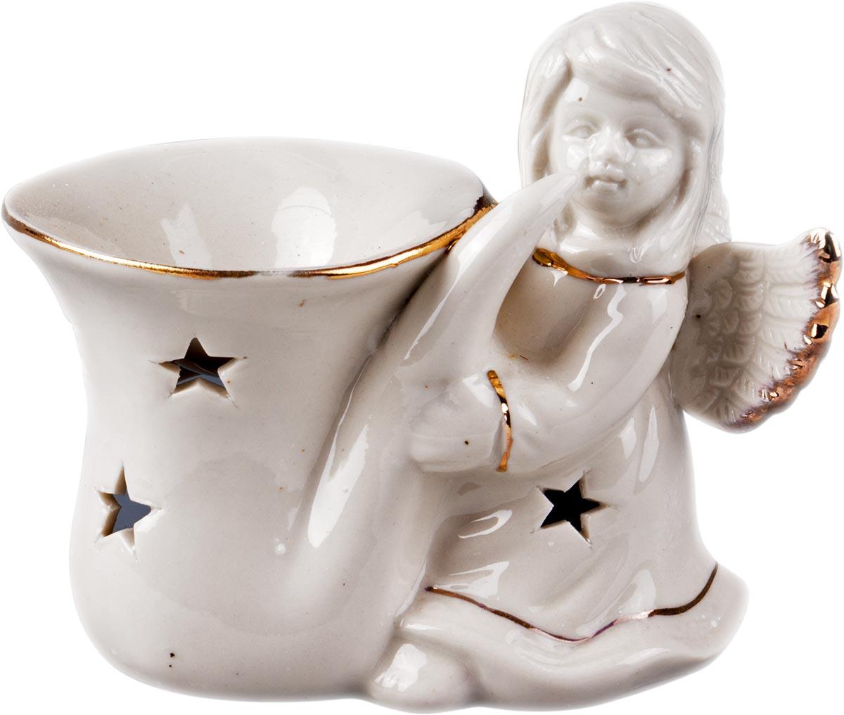 Аромалампа Ангел, цвет: белый, 10 х 10 см аромалампа шар