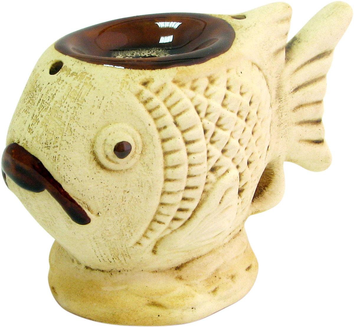 Аромалампа Рыба, цвет: коричневый, 10 см аромалампа шар