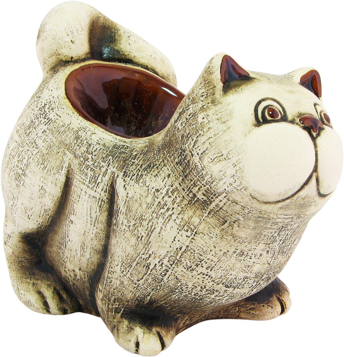 Аромалампа Котик, цвет: коричневый, 13 см аромалампа шар
