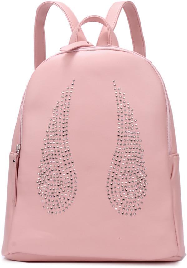 Рюкзак женский OrsOro, цвет: светло-розовый, 28 x 32 x 13 см. DS-841/6