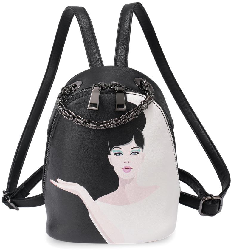 Рюкзак женский OrsOro, цвет: черный, белый. DS-849/2 orsoro ds 871 1 black
