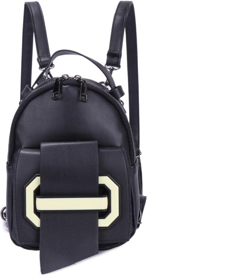 Рюкзак женский OrsOro, цвет: черный, 16 x 22 x 7 см. DS-871/1