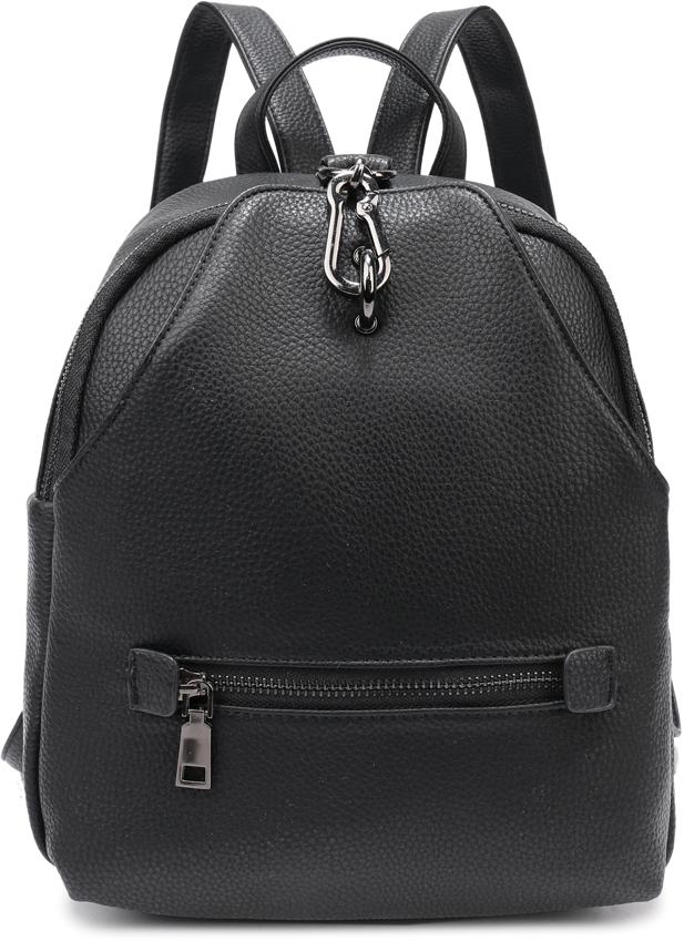 Рюкзак женский OrsOro, цвет: черный, 23 x 26 x 10 см. DS-856/1