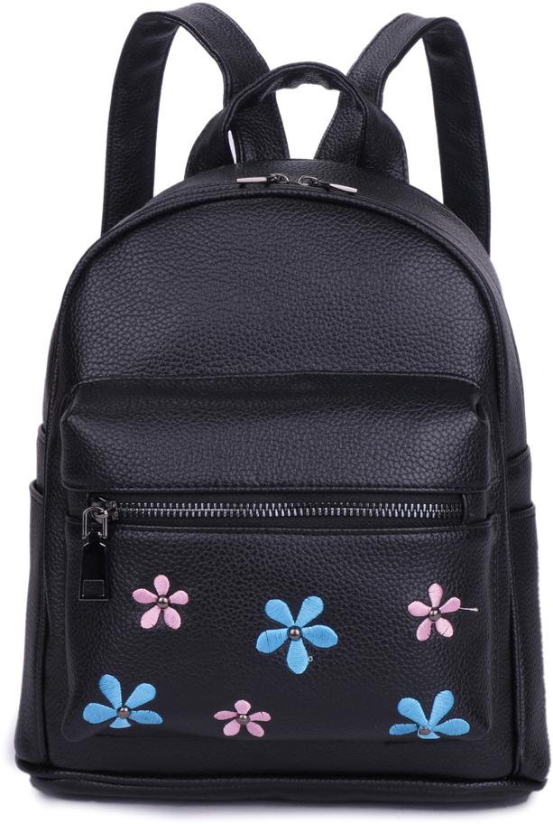 Рюкзак женский OrsOro, цвет: черный, 23 x 28 x 11 см. DS-872/1