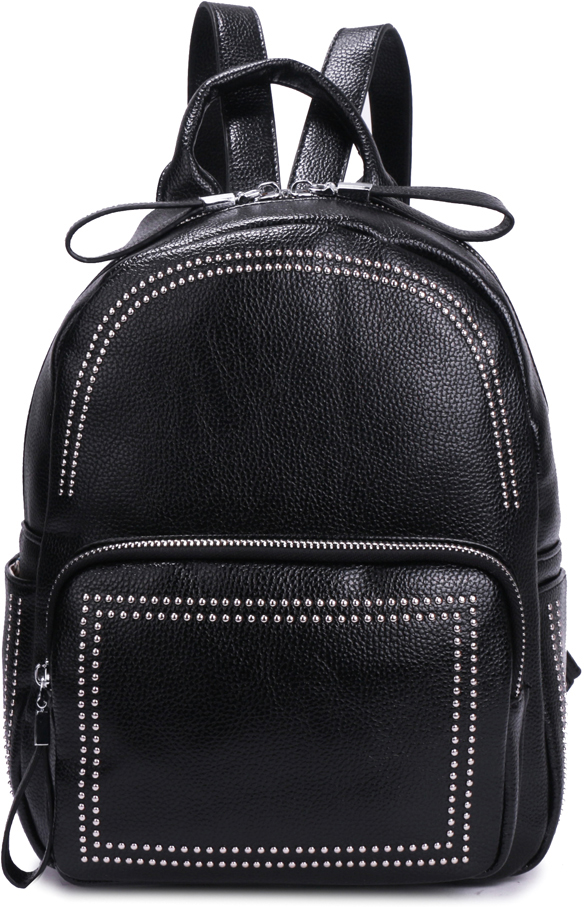 Рюкзак женский OrsOro, цвет: черный, 23 x 28 x 11 см. DS-876/1