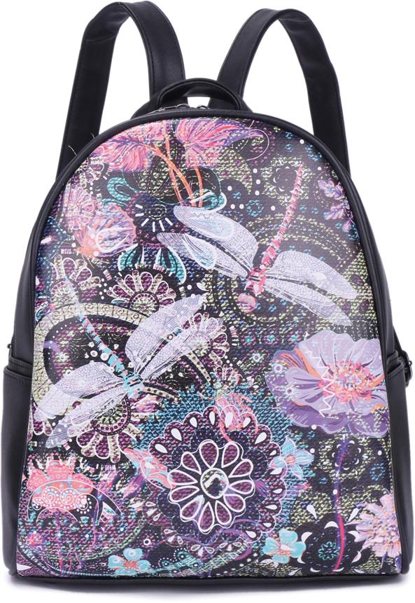 Рюкзак женский OrsOro, цвет: черный, 24 x 19 x 12 см. DS-867/3