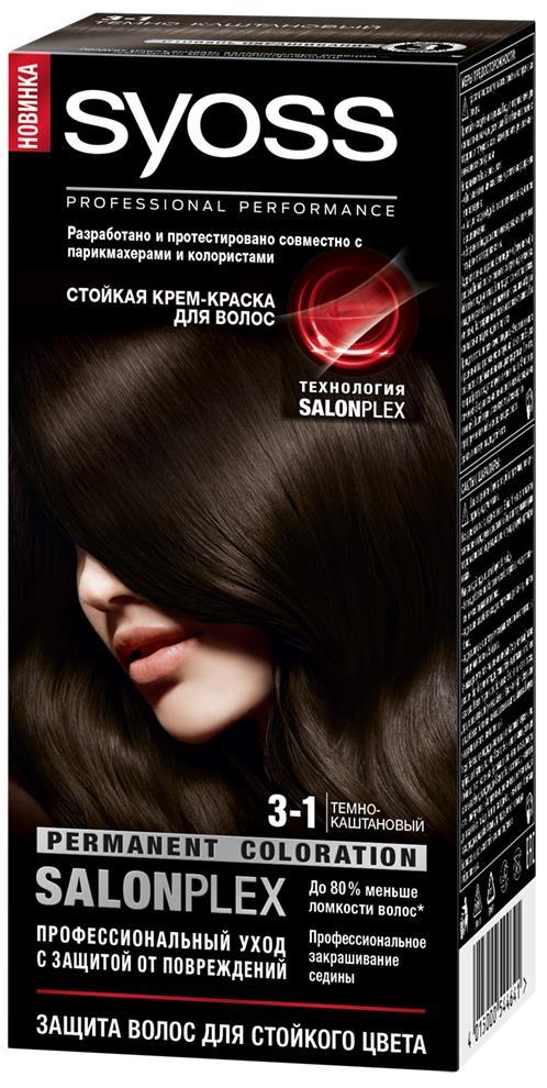 Syoss Color Краска для волос оттенок 3-1 Темно-каштановый, 115 мл