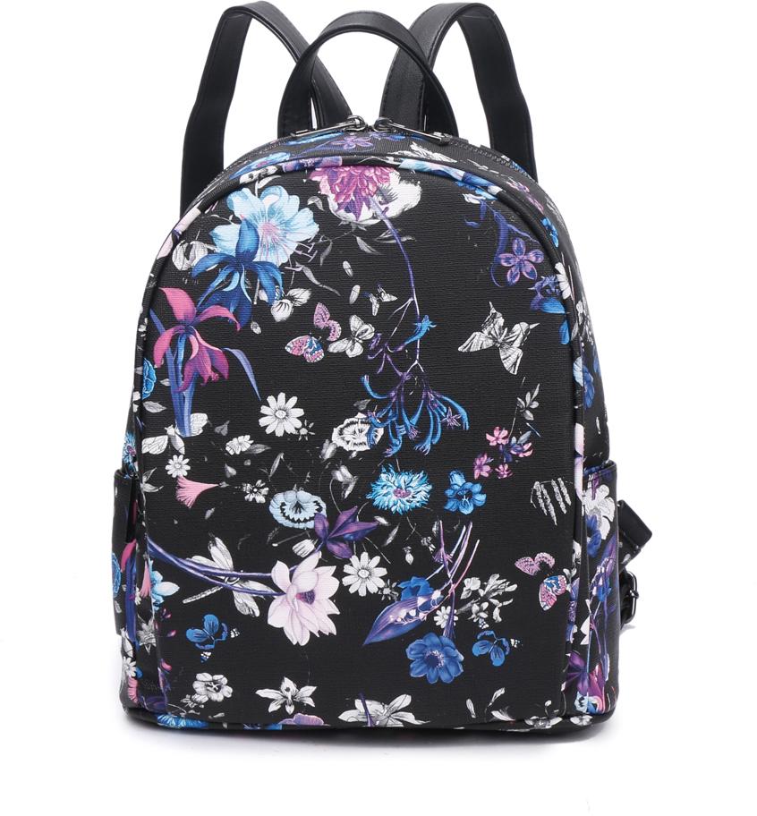 Рюкзак женский OrsOro, цвет: черный, 24 x 27 x 11 см. DS-847/1