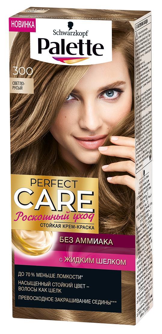 Palette PCC Крем-краска оттенок 300 Светло-русый, 110 мл9344000300Ухаживющая формула без Амииака вмсете с ухаживащим кондиционером сделают Ваши волосы мягкими и шелковистыми.