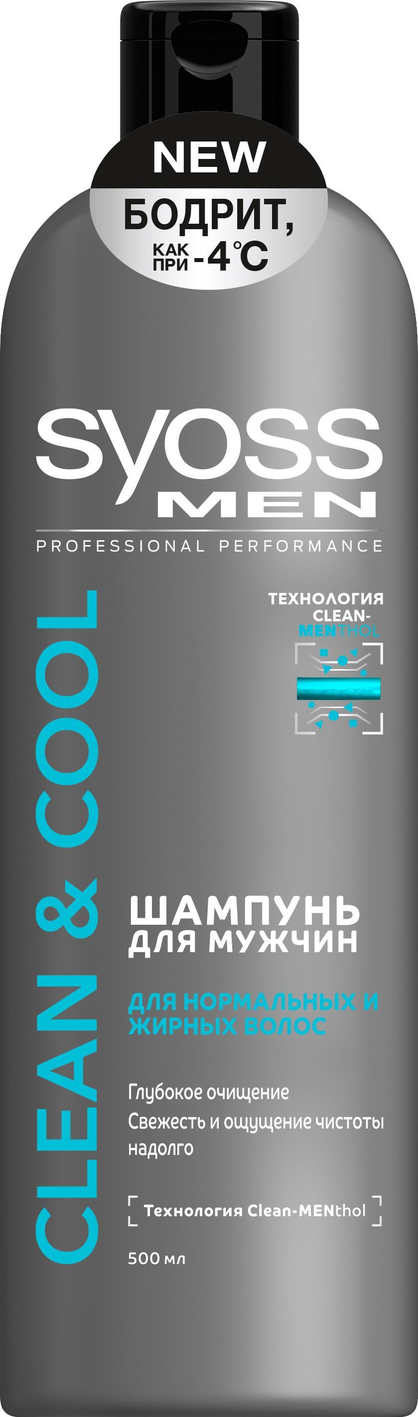 Syoss Шампунь Clean&Cool мужской, 500 мл набоков владимир дмитриевич до и после временного правительства