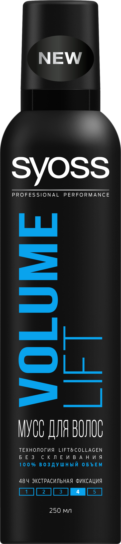 Мусс для укладки волос Syoss Volume Lift, Объем, экстрасильная фиксация, 250 мл9034824ВОЗДУШНЫЙ ОБЪЕМ МУСС ДЛЯ УКЛАДКИ ЭКСТРАСИЛЬНАЯ ФИКСАЦИЯ - 48 часов контроля над укладкой и экстрасильная фиксация- 100% воздушного объема- Лифтинг-эффект для объема и силы волос от самых корней- Легко удаляется при расчесывании,