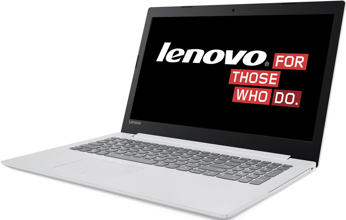 Lenovo IdeaPad 320-15IAP, White (80XR001LRK)80XR001LRKКаждая деталь Lenovo IdeaPad 320-15IAP создана для того, чтобы облегчить жизнь пользователя. Ноутбук слегкостью справляется с любыми задачами благодаря мощному процессору и встроенной видеокарте.Процессор Intel Pentium N4200 и память DDR4 гарантируют высокое быстродействие и стабильнуюпроизводительность. Запускай одновременно множество программ, с легкостью переключайся междувкладками веб-браузера и наслаждайся многозадачностью без помех.Ноутбук Lenovo IdeaPad 320-15IAP создан для решения самых разных задач. Он защищен специальнымизносостойким покрытием, устойчивым к бытовым повреждениям, а также прорезиненными деталями снизу,которые обеспечивают максимальную вентиляцию и продлевают срок службы изделия.Ноутбук Lenovo IdeaPad 320-15IAP имеет дисплей стандарта HD с антибликовым покрытием. Ты по достоинствуоценишь четкость и реалистичность изображения при просмотре фильмов и веб-серфинге.Lenovo IdeaPad 320-15IAP оснащен динамиками, оптимизированными для технологии Dolby Audio, чтообеспечивает кристально четкий звук с минимальными искажениями на любой громкости. Запусти потоковуюпередачу любимой музыки или общайся в видеочате с близкими и родными - аудиосистема передасттончайшие нюансы звука.Точные характеристики зависят от модификации.Ноутбук сертифицирован EAC и имеет русифицированную клавиатуру и Руководство пользователя
