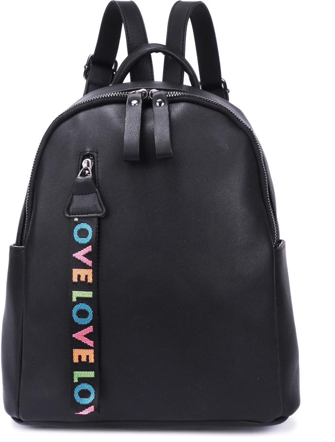 Рюкзак женский OrsOro, цвет: черный, 28 x 31,5 x 12 см. DS-877/1