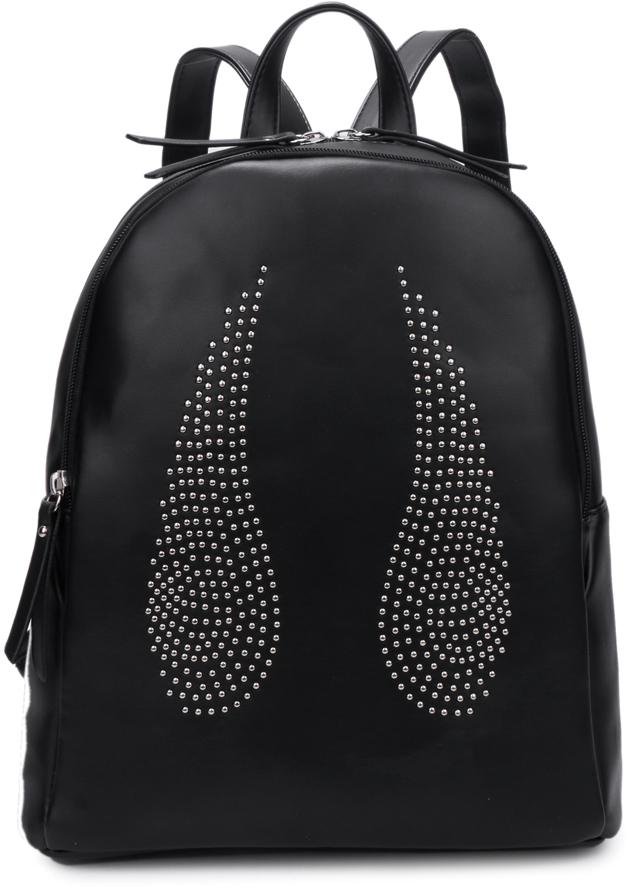 Рюкзак женский OrsOro, цвет: черный, 28 x 32 x 13 см. DS-841/1