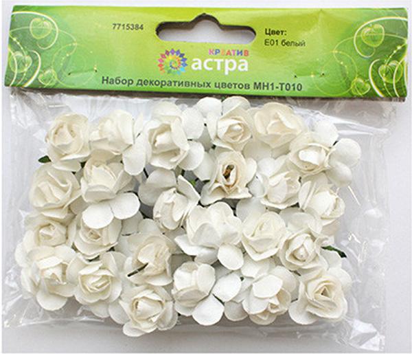 Небольшие букетики на проволочном стебельке могут использоваться в скрапбукинге, а также для декорирования открыток, рамок для фотографий, других видов творчества.Размер цветков: 2 х 2 см.В упаковке 24 цветка.