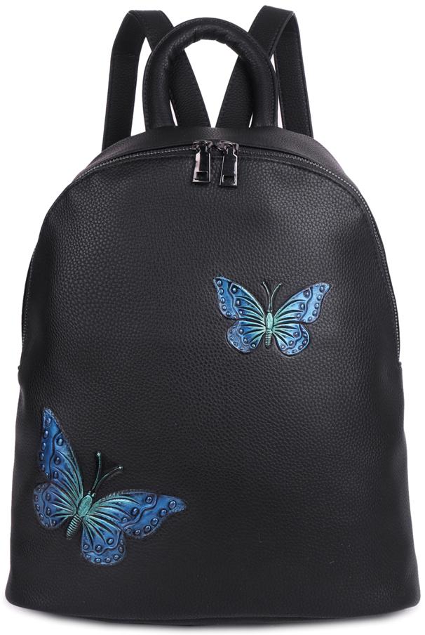 Рюкзак женский OrsOro, цвет: черный, 33 x 35 x 15 см. DS-854/2