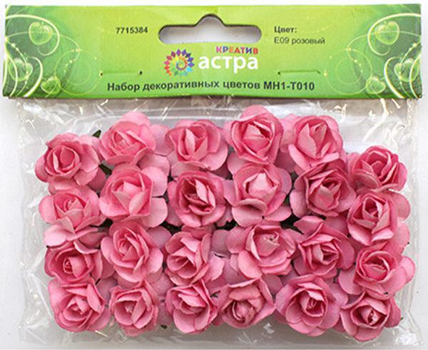 Набор декоративных цветов Астра, цвет: розовый, 2 х 2 см, 24 шт7715384_ E09 розовыйНебольшие букетики на проволочном стебельке. Назначение: скрапбукинг, декорирование открыток, рамок для фотографий, другие виды творчества.Размер: 2х2 см.В упаковке 24 цветка.