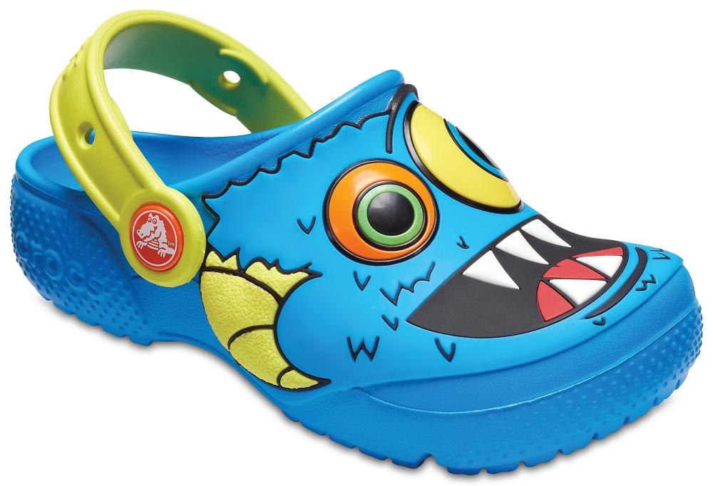Сабо для мальчика Crocs FunLab Clog K, цвет: голубой. 205001-4R7. Размер C7 (24)
