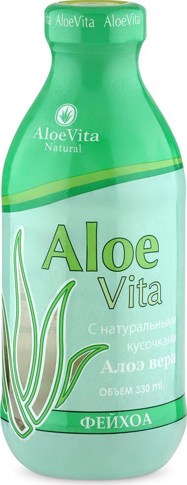 Aloe Vita Фейхоа Напиток негазированный с кусочками алоэ, 0,33 л4607071272181Напиток Aloe Vita Фейхоа с кусочками алоэ полезен для пищеварения и способствует укреплению иммунитета. Он является источником множества витаминов и биологически активных веществ и помогает сохранить крепкое здоровье. Напиток подойдет тем, кто следит за своим самочувствием и выбирает только качественные натуральные продукты. Упаковка стекло. Хранить в защищенном от солнца помещении при Т от 0 до +25
