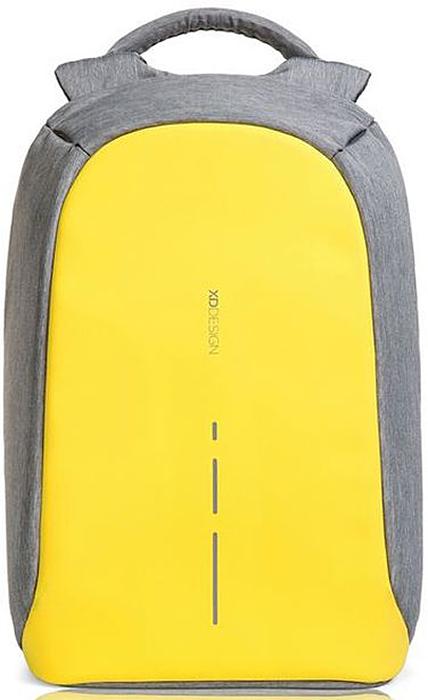 Рюкзак для ноутбука XD design Bobby Compact, до 14, цвет: серый, желтый, 11 лP705.536Рюкзак для ноутбука до 14 XD design Bobby Compact - это второе поколение противоугонного рюкзака меньшего размера. Несмотря на то, что габариты изделия стали меньше, благодаря продуманному расположению и устройству отделений влезет все, что может пригодиться в течение дня.Преимущества: • Полная защита от карманников: не открыть, не порезать. • Вшитый USB-порт для зарядки гаджетов. • Светоотражающие полосы. • Супер-легкий: на 25% легче аналогов. • Отделение для ноутбука до 14. • Отделение для планшета. • Чехол-кошелек для мелких аксессуаров. • Крепления для бутылки воды и камеры.