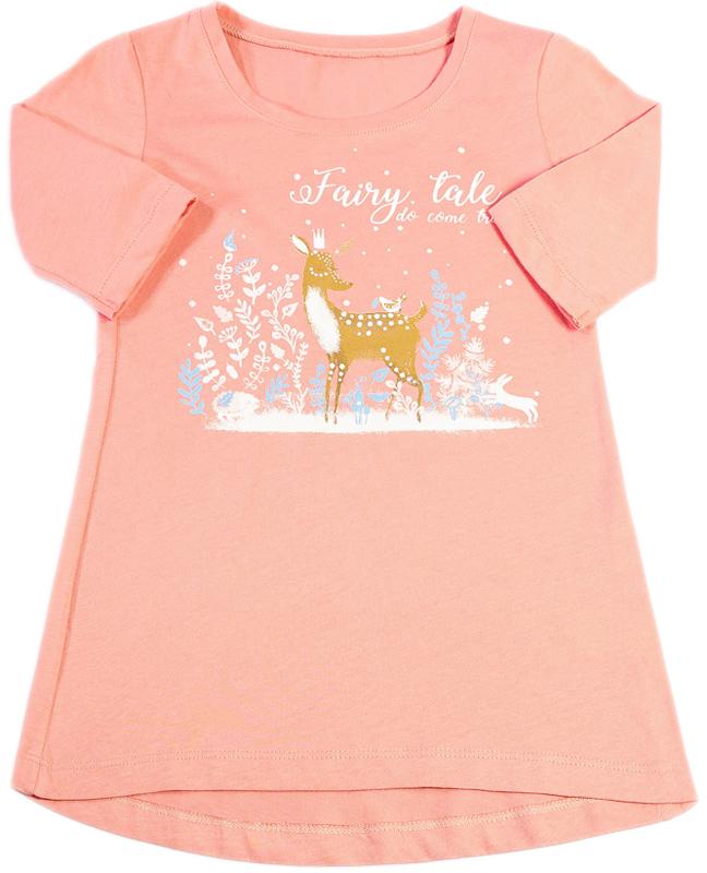 цена на Ночная рубашка для девочки Mark Formelle, цвет: розовый. 1201. Размер 116