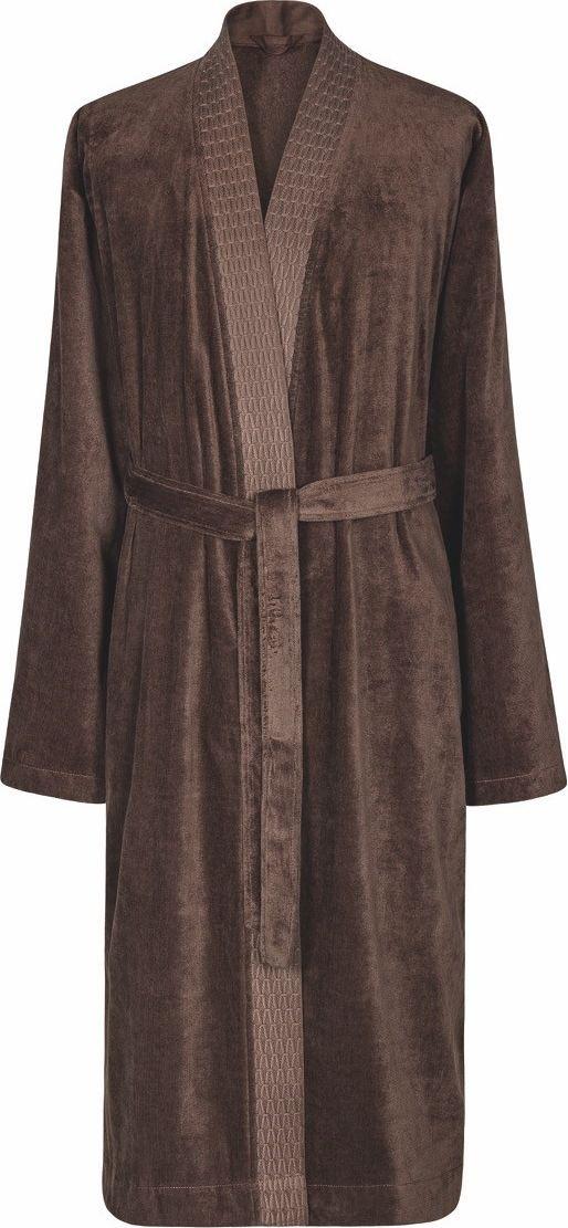 Халат мужской Estia Филоменто, цвет: темно-коричневый. 99.54.51.00. Размер 4899.54.51.00_Филоменто