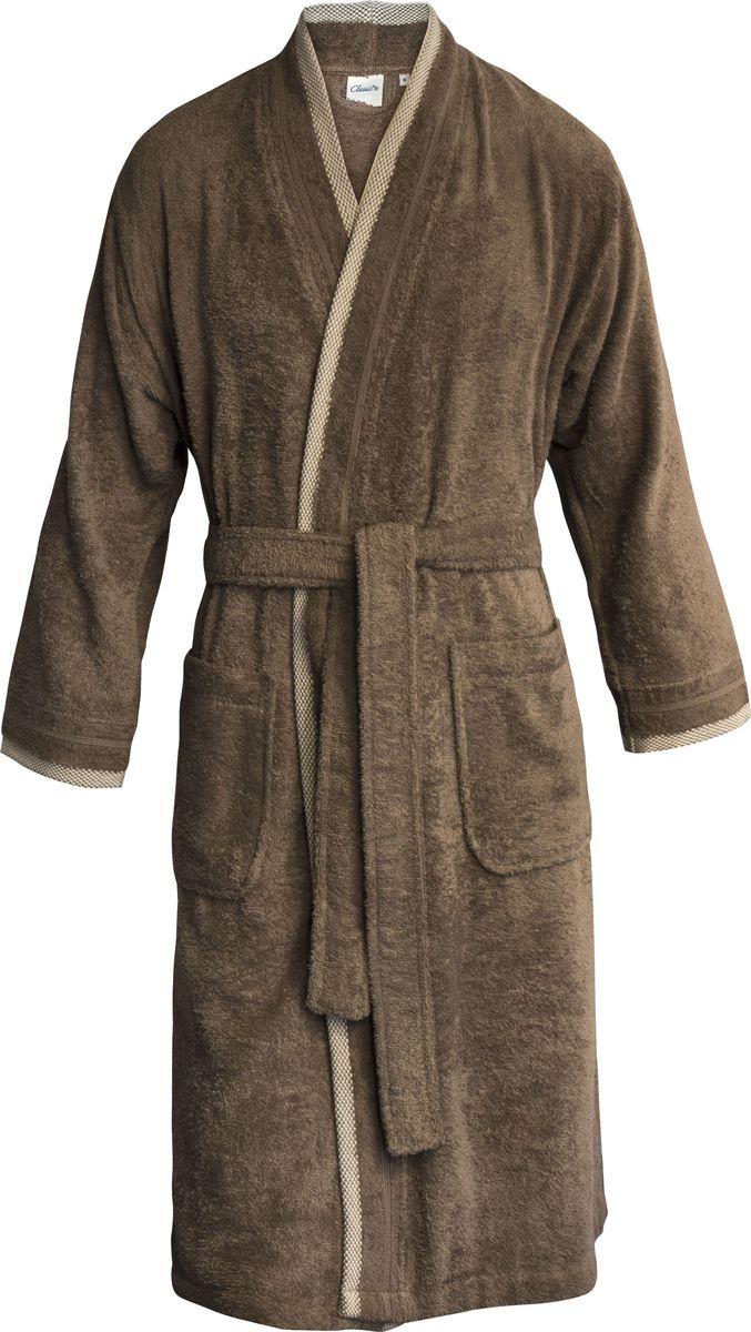 Халат мужской Classic by T Вальмон, цвет: коричневый. 10.00.02.05. Размер 4610.00.02.05_Вальмон