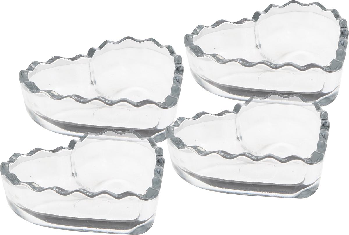 Набор состоит из 4 салатников, изготовленных из стекла. Салатники прекрасно  подойдут для подачи различных блюд: закусок, салатов или фруктов.  Такой набор украсит ваш праздничный или обеденный стол, а оригинальный  дизайн придется по вкусу и ценителям классики, и тем, кто предпочитает  утонченность и изысканность.