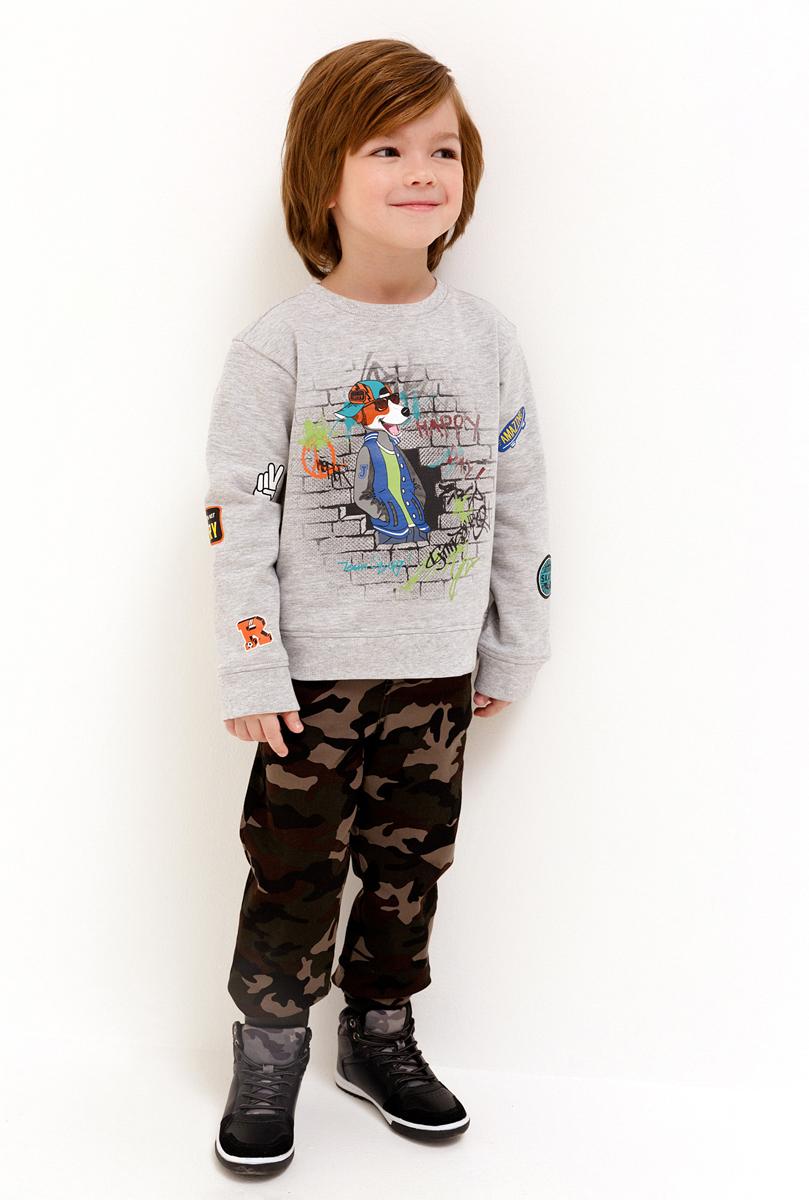 Брюки для мальчика Acoola Kramer 3, цвет: мультиколор. 20120160151_8000. Размер 12220120160151_8000Камуфляжные брюки из плотной хлопковой ткани станут модным и удобным элементом в гардеробе ребенка. Модель свободного кроя с трикотажным поясом на кулиске, застежкой на молнию и пуговицей. Два боковых кармана и два задних накладных кармана. По низу брючин расположены трикотажные манжеты.На фотографии представлен размер 110.Ширина изделия по линии талии - 25 смШирина изделия по линии бедер - 32 смДлина внутреннего шва - 48 смРазница между размерами составляет 1,5 см.