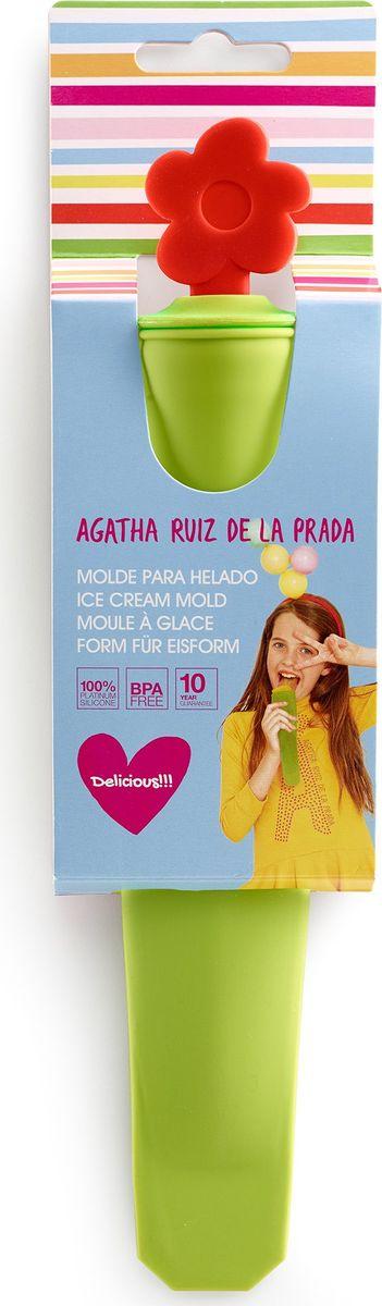Форма для мороженого Lekue Agatha. Цветок4602003V10U002Форма и цвет - это основа коллекций, созданных Agatha Ruiz de la Prada for Lekue. В этой коллекции объединились опыт в производстве высоко-качественный посуды от Lekue и уникальный штрих от модного дизайнера.Оригинальные силиконовые формы для замораживания домашнего мороженого, фруктовых соков и плодово-ягодных смесей. Забава и практичность объединены в силиконовых формах. Наслаждайтесь возможностью создания бесчисленных комбинаций различных продуктов и ароматов. Крышка в форме цветка.Хотите удивить ваших гостей?Теперь вы сможете им предложить классический рожок с мороженым, фруктовым льдом или плодово-ягодной смесью. Фантазия рецептов безгранична. Вы можете фантазировать с ингредиентами как вам заблагорассудиться! Самостоятельно придумывать новые рецепты, удивляя гостей!Мороженое домашнего приготовления – это не только вкусно, но и полезно. Компоненты, используемые для его приготовления, Вы выбираете сами: молоко, сливки, свежие фрукты и ягоды, орехи, цукаты и никаких эмульгаторов. Удивительных рецептов домашнего мороженого предостаточно – от ромового до лукового.Употреблять готовый десерт можно непосредственно из силиконового рожка. Десерт легко выдавливается из эластичной формы, а руки остаются чистыми. Форма изготовлена из чистого силикона, абсолютно инертного медицинского материала. Силикон не вступает ни в какое химическое воздействие с окружающими материалами. Следовательно, ваша пища, приготовленная в форме из силикона, никогда не будет содержать никаких посторонних примесей.