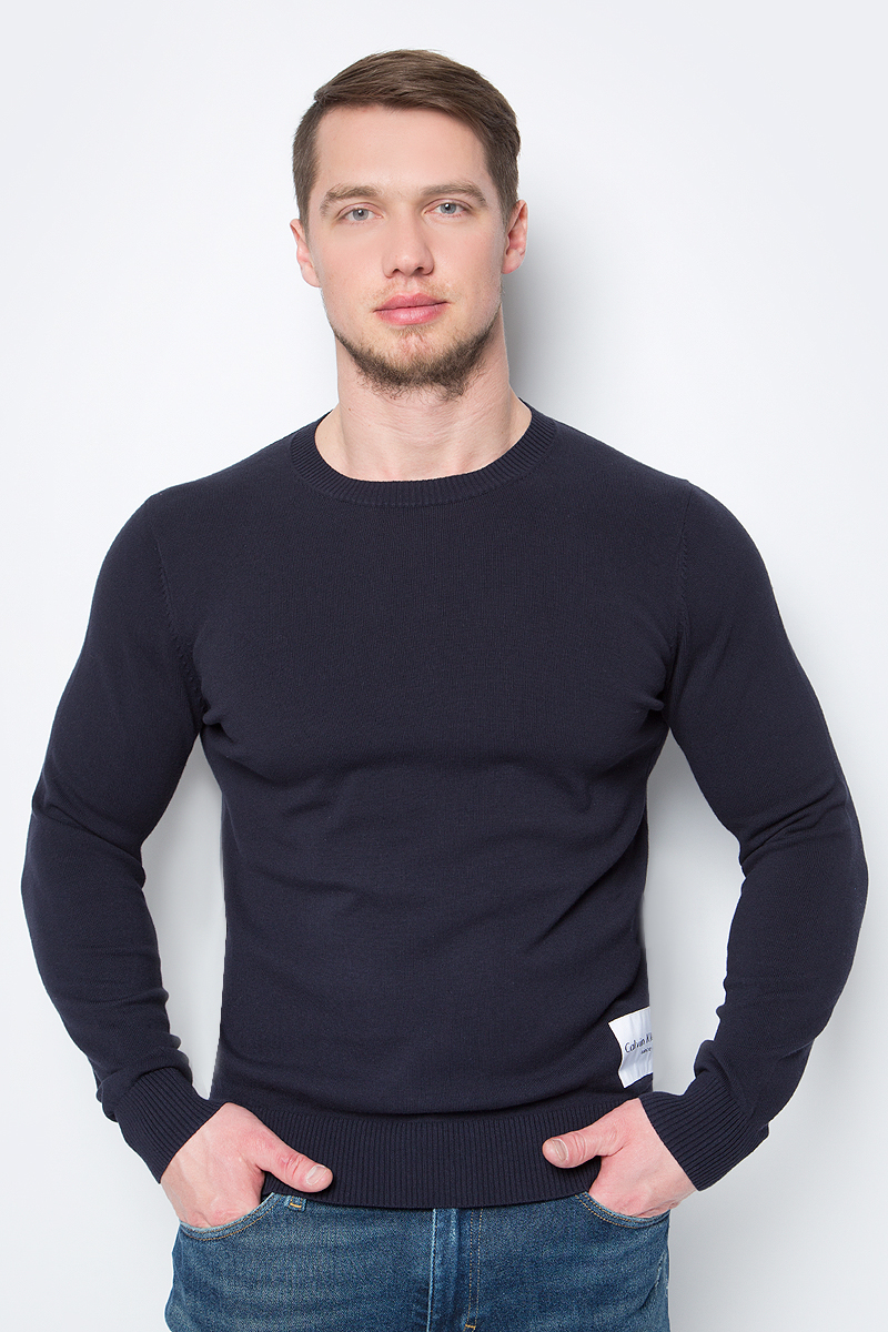 Джемпер мужской Calvin Klein Jeans, цвет: темно-синий. J30J307324_4020. Размер S (44/46) 2017 autumn puppy jean new fashioned classic jeans water soluble lace women s fashion jeans large size jeans nw17c1199