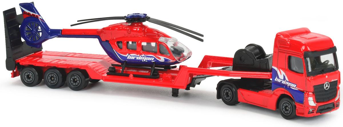 Majorette Транспортер Mersedes Actros с вертолетом транспортер т2 т3 г хмельницкий купить