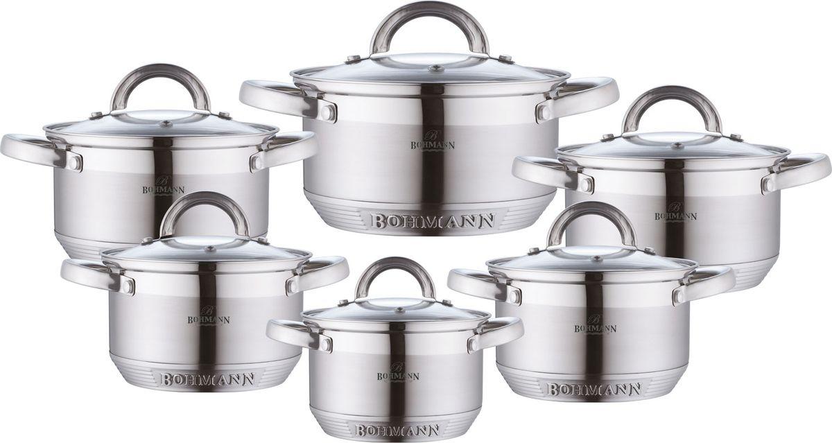 Набор посуды Bohmann, 12 предметов. 0717BH набор мисок bohmann голубые цветы с крышками 6 предметов