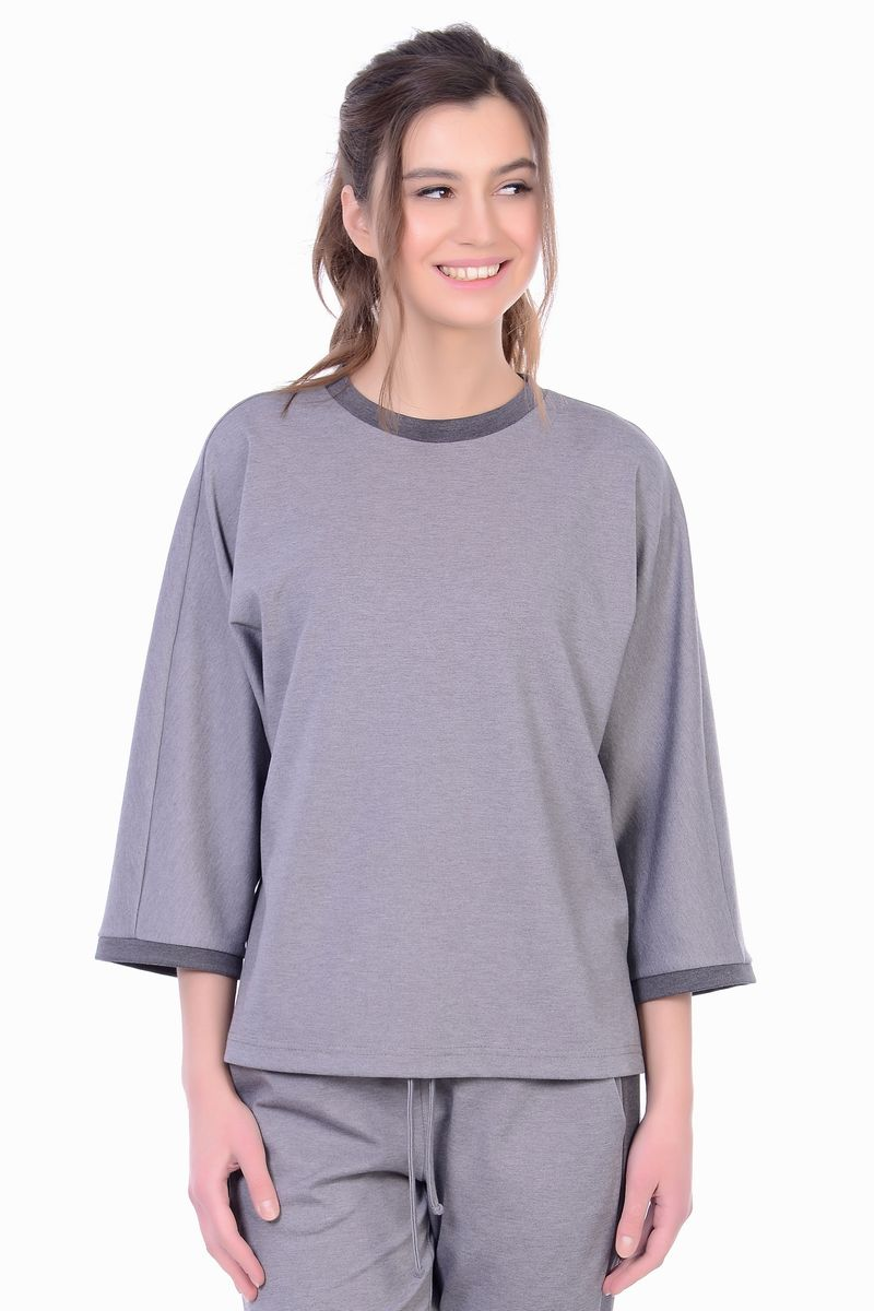 Блузка женская Lautus, цвет: серый. б0481. Размер 44б0481