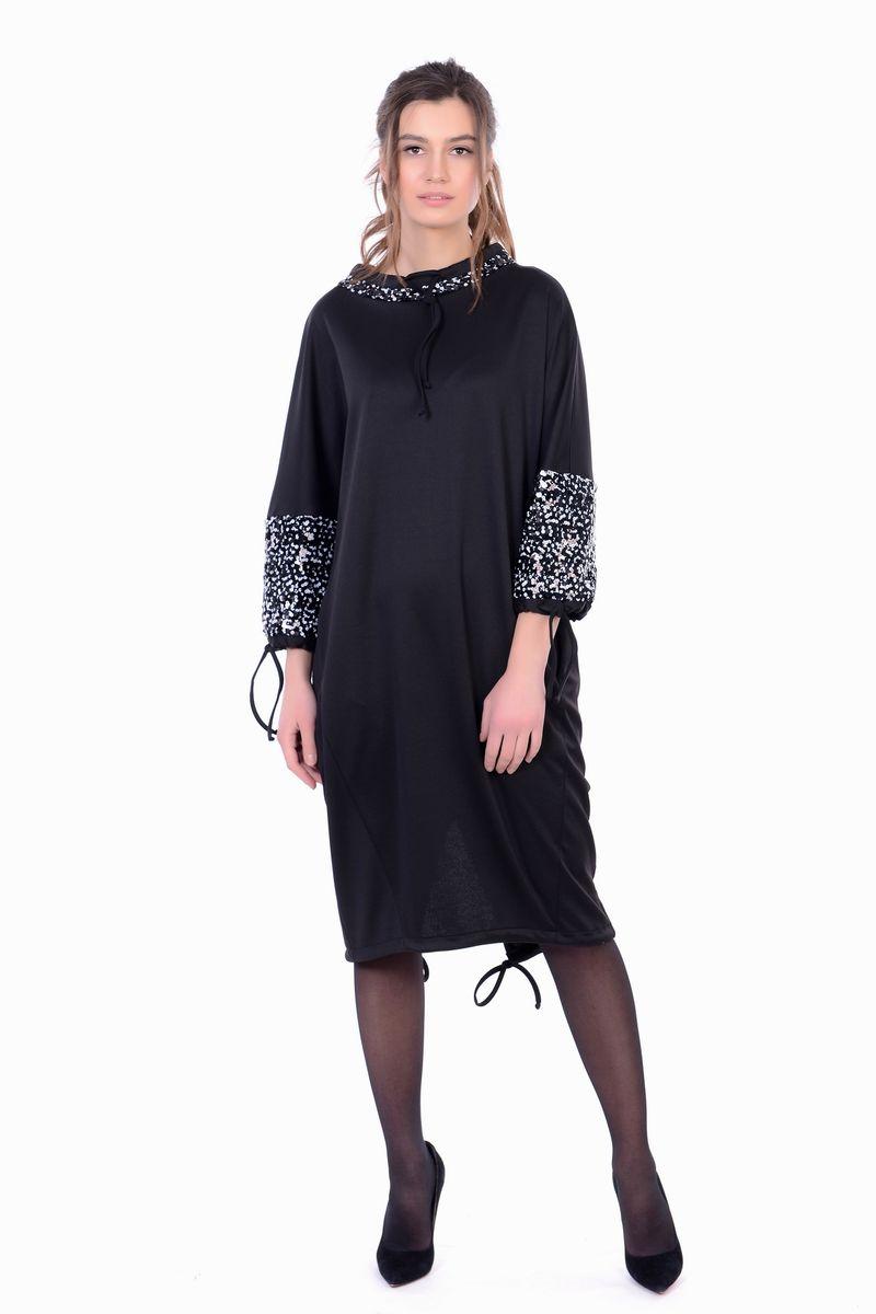 Платье женское Lautus, цвет: черный. 1159. Размер 461159