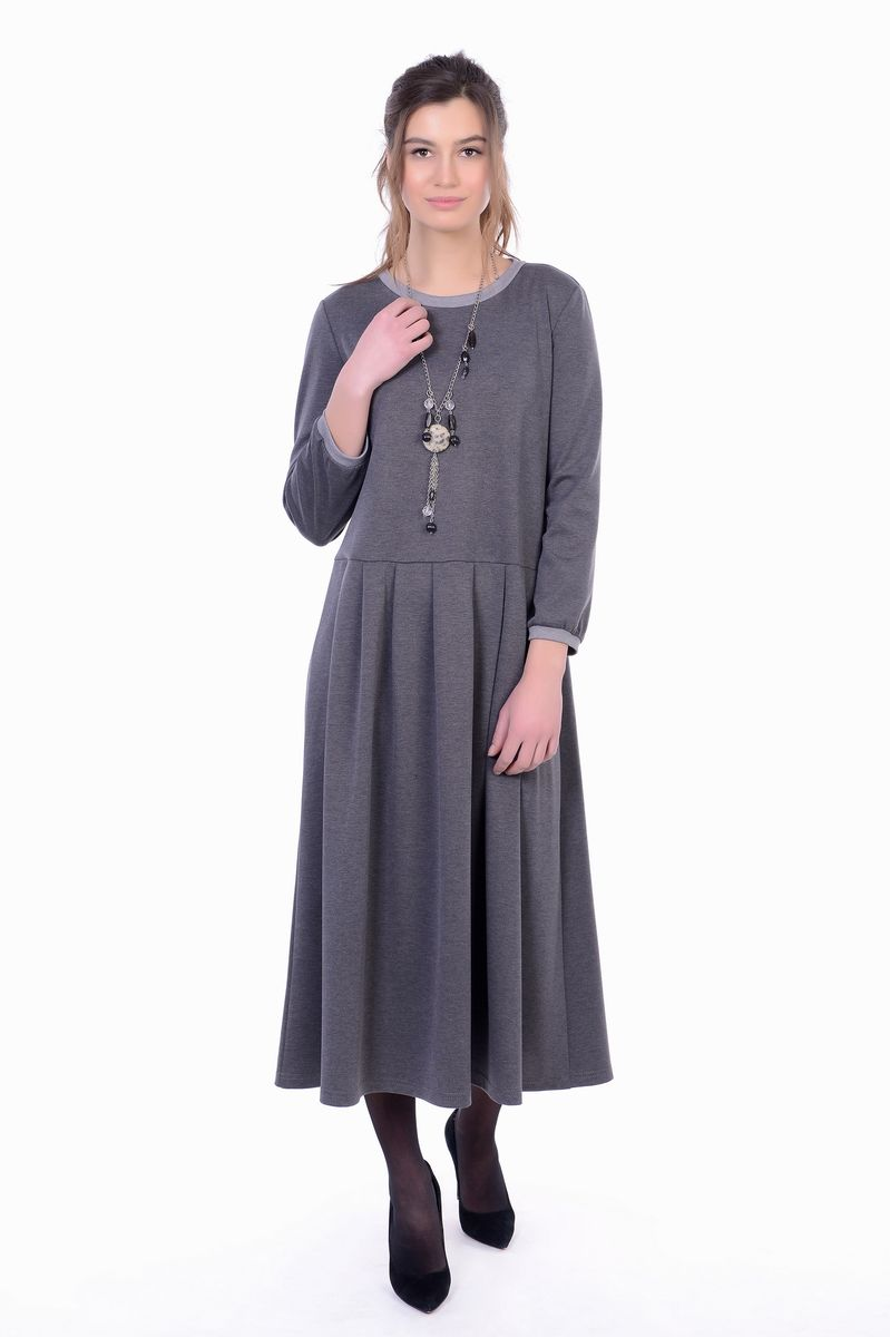 Платье женское Lautus, цвет: серый. 1154. Размер 441154