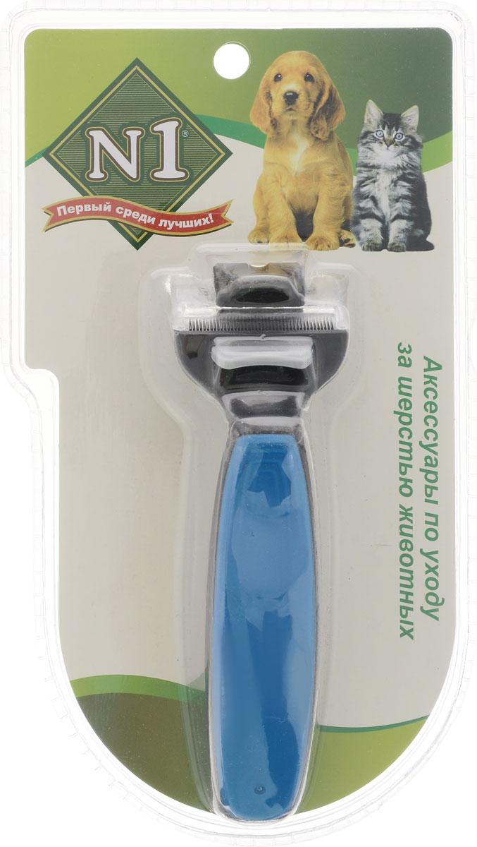 Расческа-триммер для животных №1, с 2-ым лезвием и вращающейся головкой, цвет: синий, черный, ширина лезвия 4,5 смТСР45_синий,черныйРасческа-триммер для животных №1 - оригинальная вещица для вашего питомца. Расческа - триммерс двойным лезвием и вращающейся головкой превратит уход за домашнем любимцем в удовольствие.