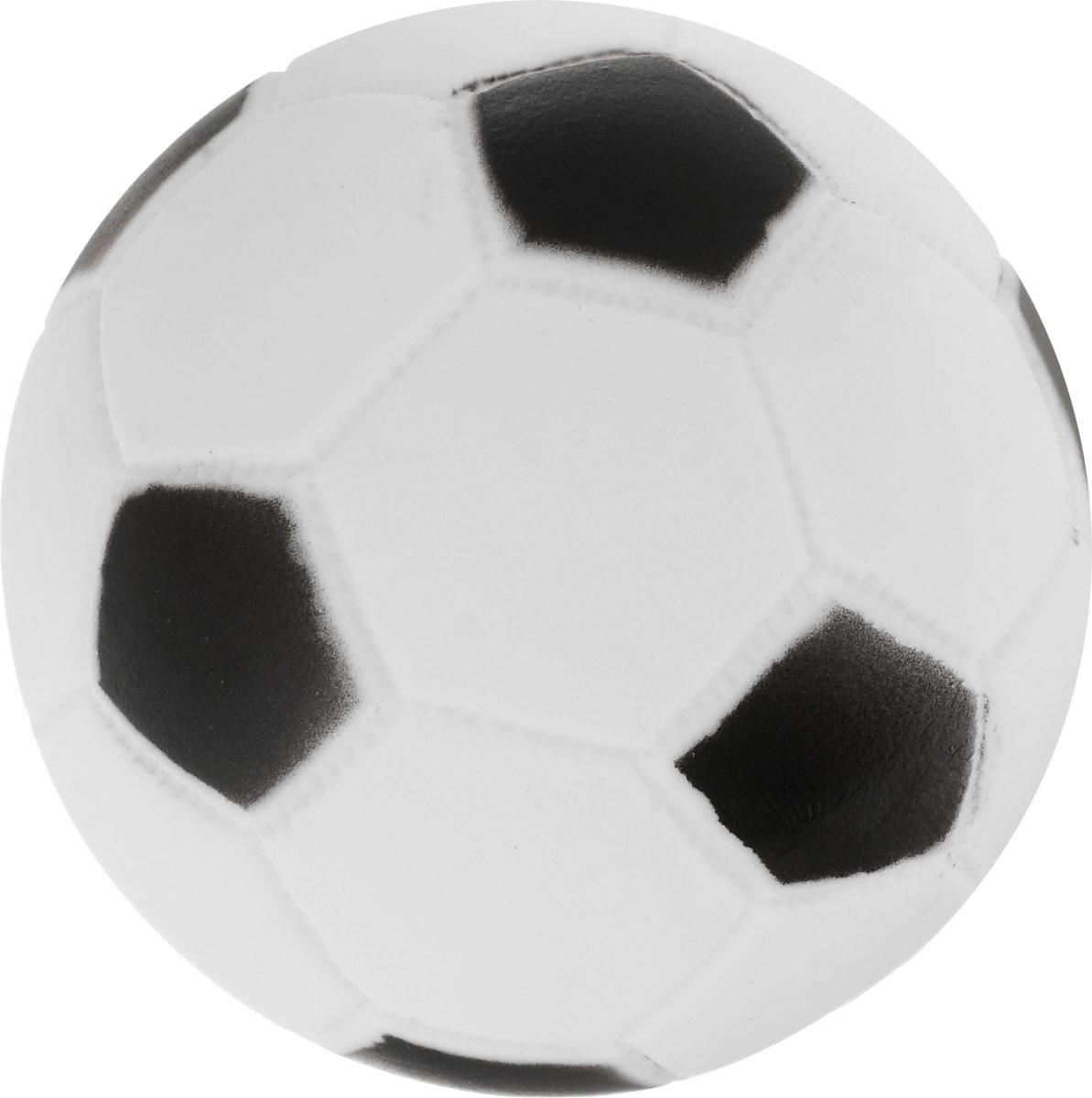 Игрушка для собак Уют Мяч футбольный, цвет: белый, черный, 7 см футбольный тренажер exit 124x124 см