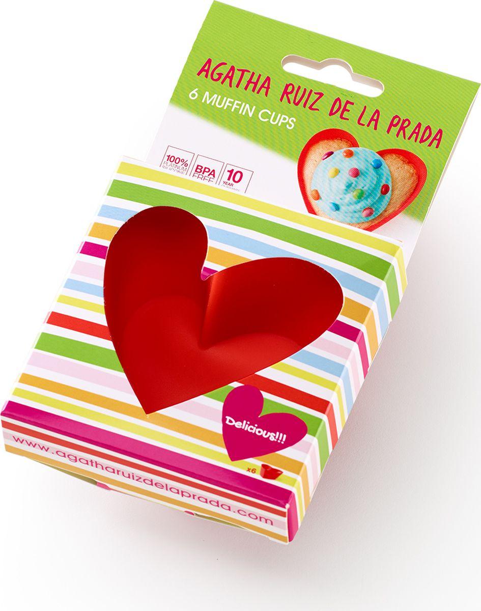 Форма для маффинов Lekue Agatha Сердце, 6 шт декоратор lekue decomax с 6 насадками цвет салатовый