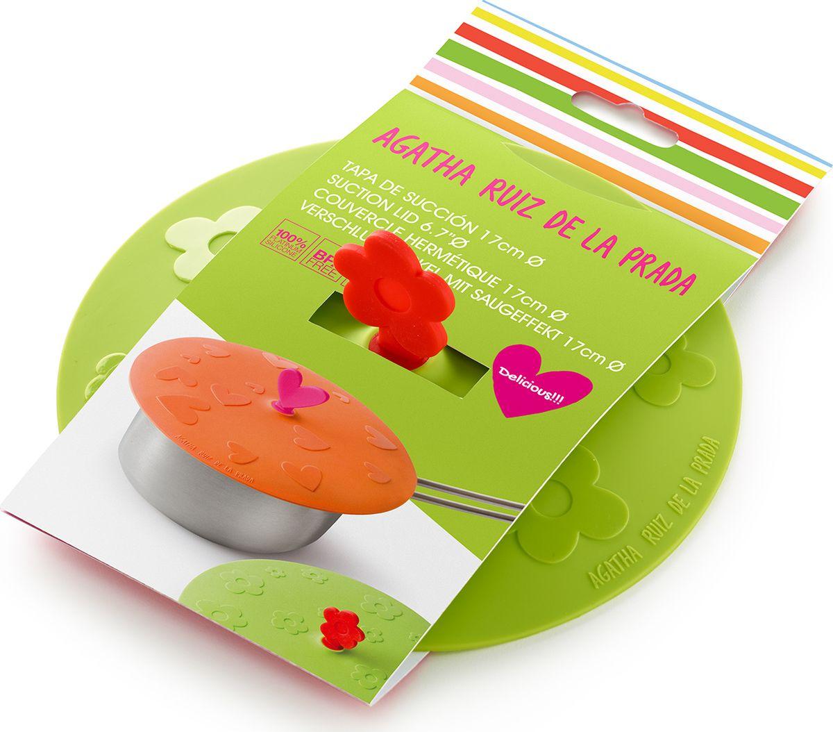 """Крышка герметичная Lekue """"Agatha. Цветок"""" - крышка в которой объединились опыт в производстве высоко-качественный посуды от Lekue и уникальный штрих от модного дизайнера.  Для хранения и жарки. Новинкой в области кухонных принадлежностей стали силиконовые крышки. Уникальный материал позволяет крышкам герметично закрывать посуду независимо от диаметра.   Силикон способен выдерживать большие перепады температур, не теряя своих свойств, поэтому крышки можно использовать для хранения приготовленных продуктов в холодильнике. Проблема неприятных запахов в холодильнике будет решена навсегда, потому что крышки плотно закрывают посуду, препятствуя распространению запахов.   Силиконовые крышки очень удобны в использовании и позволяют хранить продукты без доступа воздуха, чтобы они оставались свежими в течение нескольких дней.  Теперь, имея под рукой такие практичные, удобные компактные силиконовые крышки, хозяйке не надо будет беспокоиться о продуктах, которые надо сохранить в холодильнике, перевезти на дачу или взять с собой на пикник. Уникальная силиконовая крышка гарантирует наилучший результат, если необходимо сохранить сочность и аромат приготовленных продуктов!  Силиконовые крышки герметично закроют любую посуду - от кастрюль и сковородок до тарелок и стаканов. Они практичны: не боятся высоких температур (до +260 градусов) и пригорания продуктов, не бьются, легко моются, компактны и удобны в хранении."""