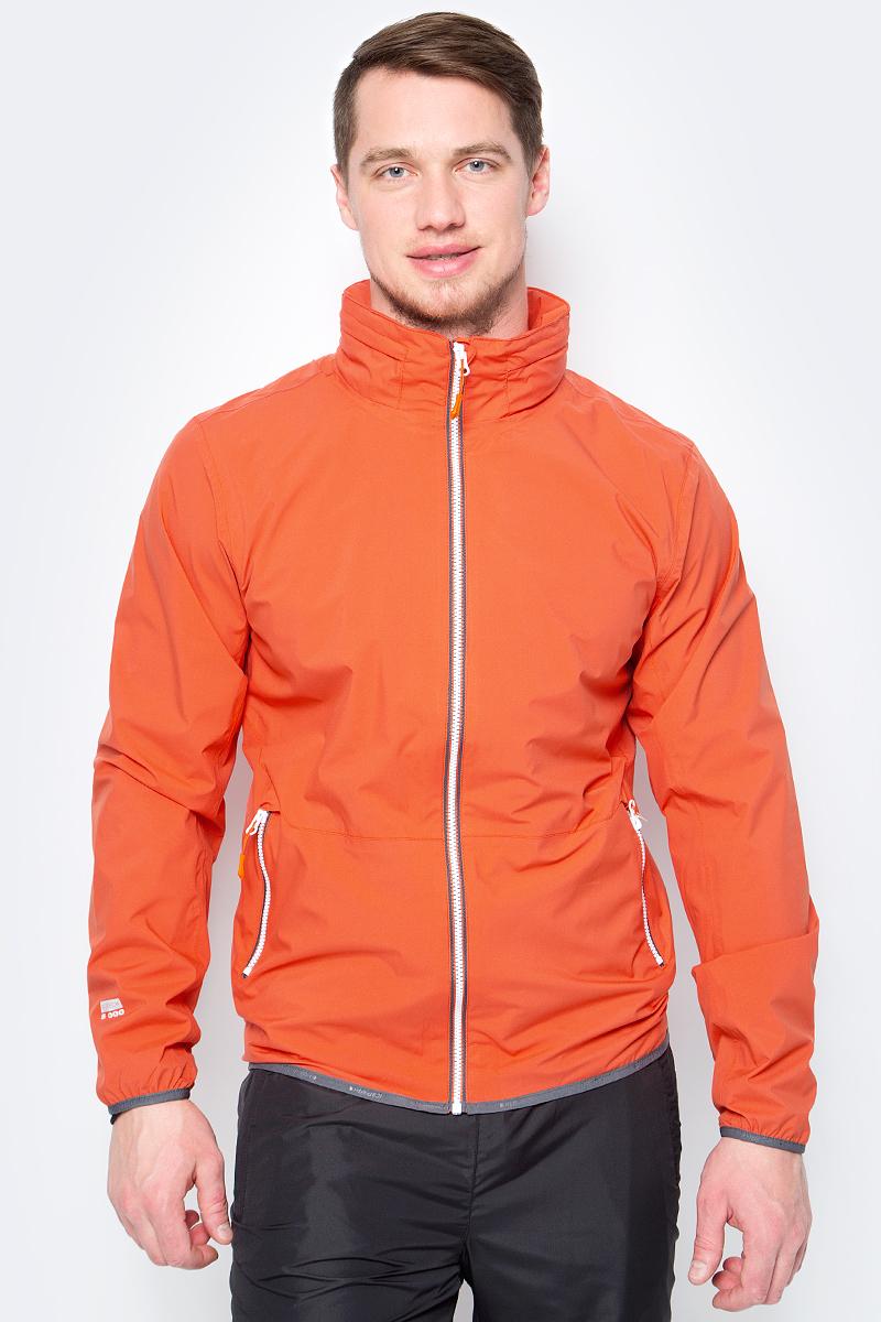 Куртка мужская Icepeak, цвет: оранжевый. 956234521IV_490. Размер 50956234521IV_490Легкая куртка от Icepeak выполнена из высококачественного материала. Модель с длинными рукавами и воротником-стойкой застегивается на молнию. По бокам куртка дополнена втачными карманами на молниях.