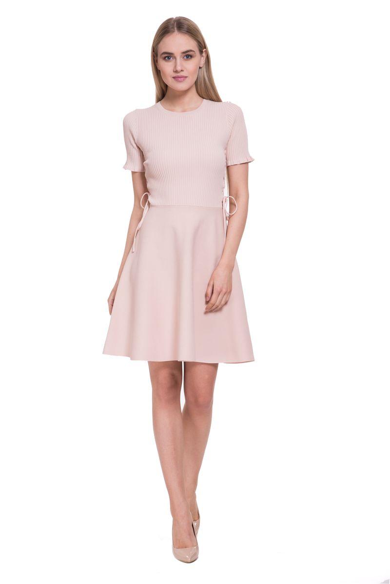 Платье женское Lusio, цвет: бежевый. SS18-020292. Размер L (46/48)SS18-020292