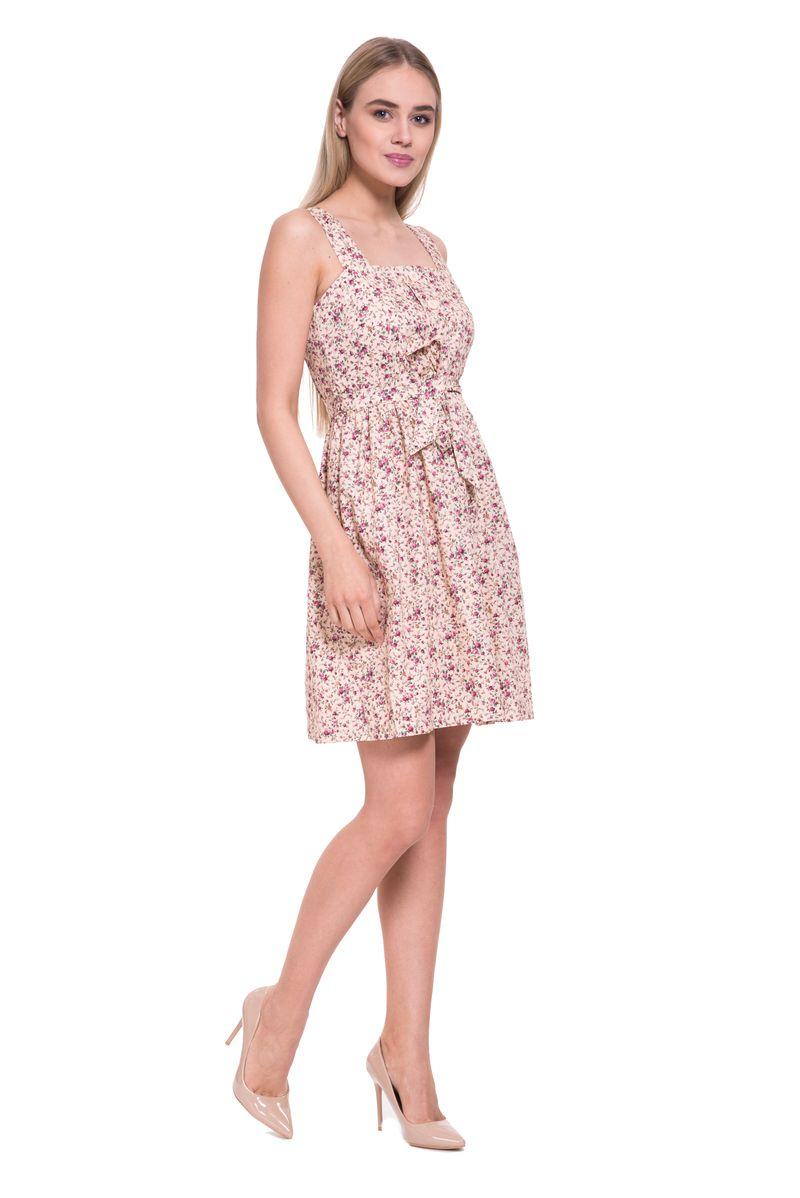 Платье женское Lusio, цвет: бежевый. SS18-020315. Размер L (46/48)SS18-020315