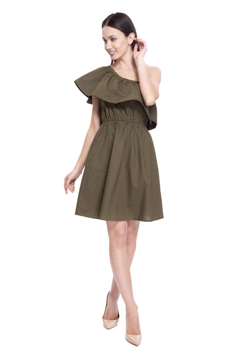 Платье женское Lusio, цвет: хаки. SS18-020096. Размер S (42/44)SS18-020096