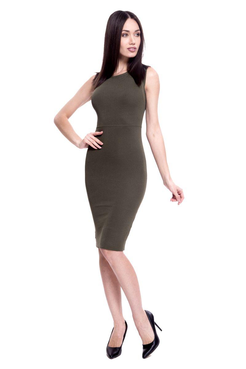 Платье женское Lusio, цвет: хаки. SS18-020354. Размер S/M (42/46)SS18-020354