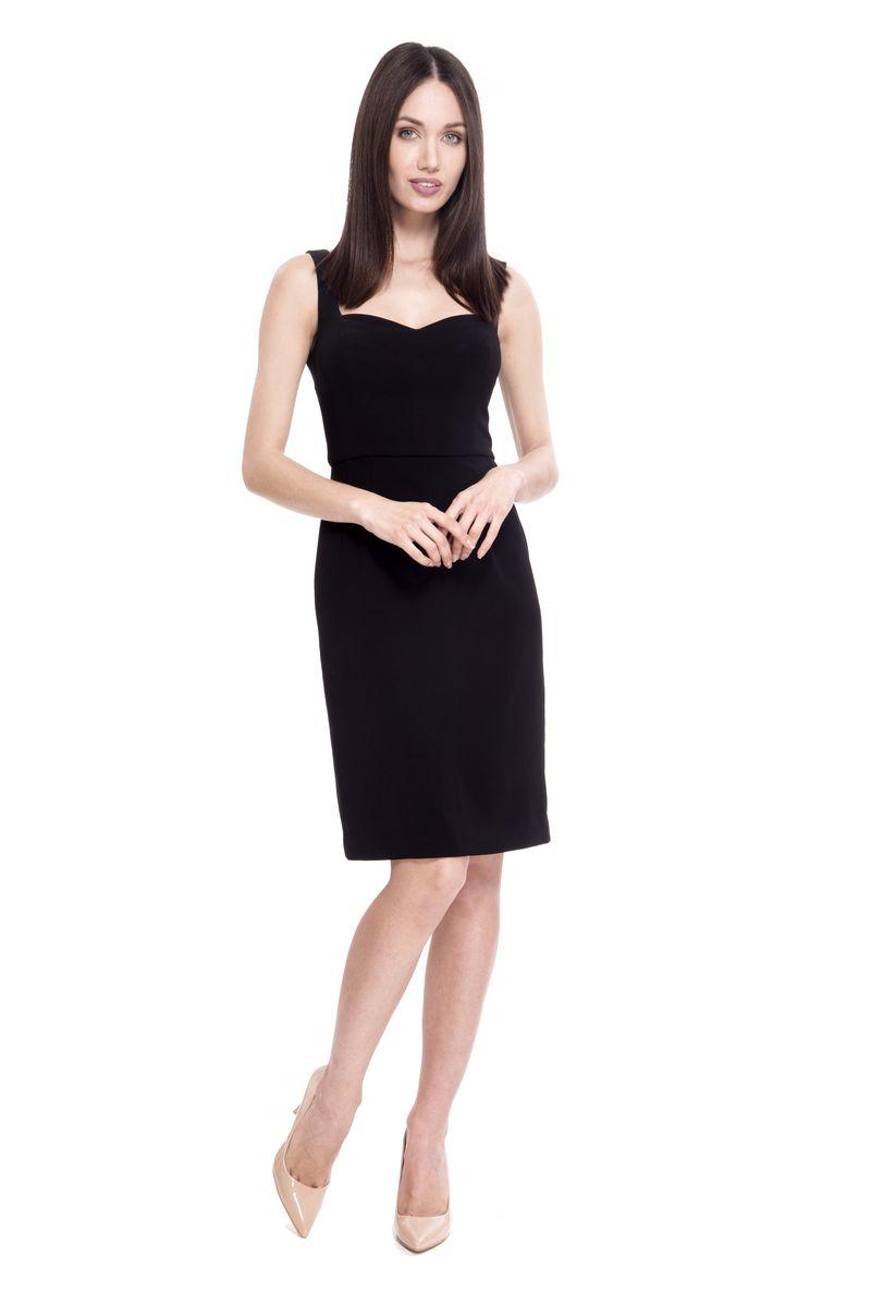 Платье женское Lusio, цвет: черный. SS18-020072. Размер M (44/46)SS18-020072
