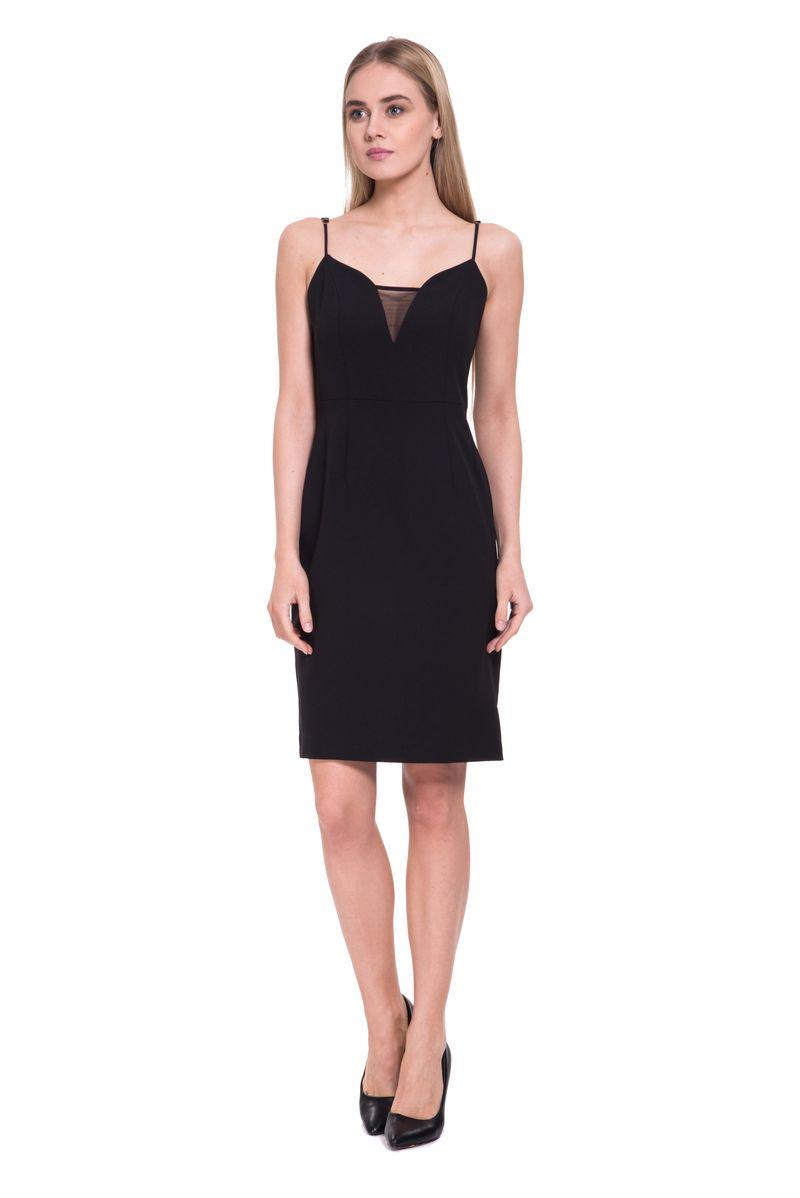 Платье Lusio, цвет: черный. SS18-020076. Размер XS (40/42)
